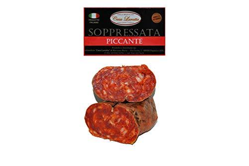 Handgepresst Piccante Calabrese, hergestellt und verpackt in Kalabrien 650/700 g.