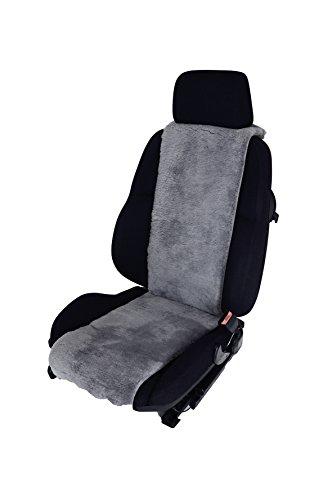 Leibersperger Felle Lammfell Autositz-Auflage Autositzbezug Sitzbezug Autofell Premium 36 cm x 138 cm (Taubenblau)