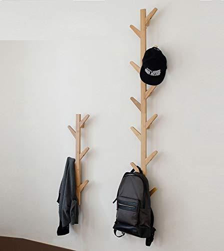 GHY Porte-manteau mural décoratif en bois massif à suspendre, pour salon, chambre à coucher, ecru, 123*22*7Cm