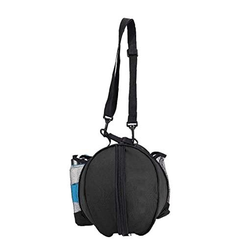 Baloncesto Llevar Bolso Impermeable Portable Solo Hombro Caja De Almacenamiento Bolsas De Bola Carrier Titular De La Mujer del Hombre Negro