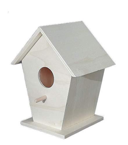 Vogelhuis van onbehandeld hout om te beschilderen, hoogte: 18 cm. Breedte: 14 cm. Diepte: 11 mcs. Vogelhuis