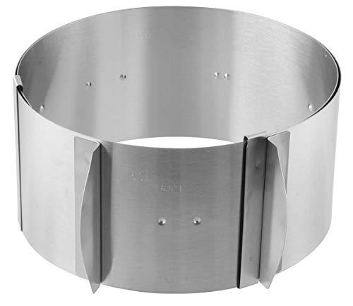 FMprofessional Tortenring verstellbar INOX, Edelstahl, Silber, 30 cm