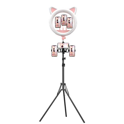 XIYAN Cute Ring Fill Light, 20-Inch LED Ring Light Dimmable Fill Light with Tripod Supports Most Devices with USB Ports