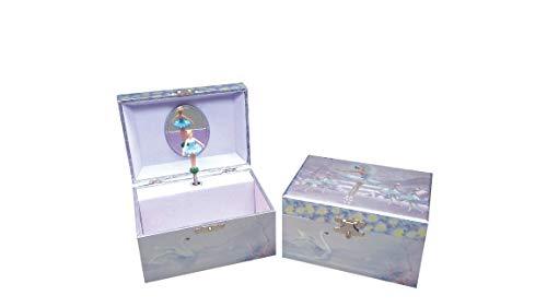 Musicbox World - Boîte à bijoux scintillante ballerines et cygnes - 22190