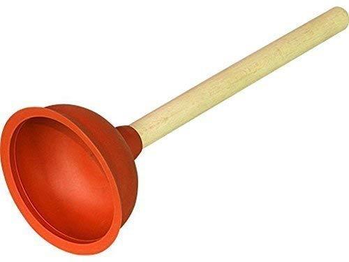 Ausgußreiniger ca. 111 mm Ø in sehr elastischer Qualität Komplett mit Holzstiel, ca. 35 cm lang