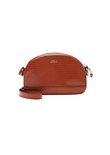 s.Oliver Damen Mini Bag in Reptilleder-Optik cognac 1