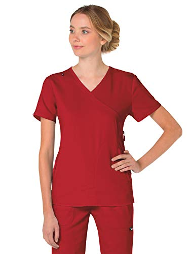 KOI Lite 316 Women's Philosophy Scrub Top Ruby M