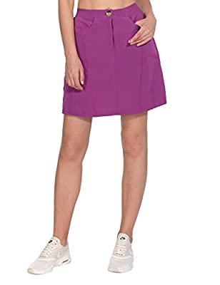 Little Donkey Andy Women's Athletic Skort Build-in Shorts with Pockets UPF 50+ Golf Tennis Sports Casual Skirt Purple M