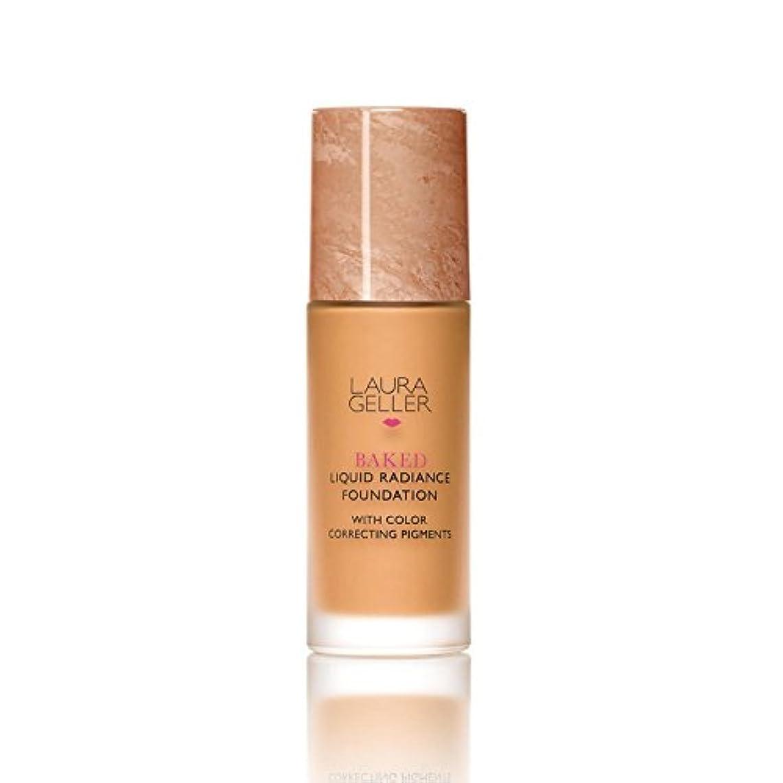 ビット住居後世ローラ?ゲラーニューヨーク焼いた液体放射輝度基盤日焼け x2 - Laura Geller New York Baked Liquid Radiance Foundation Tan (Pack of 2) [並行輸入品]
