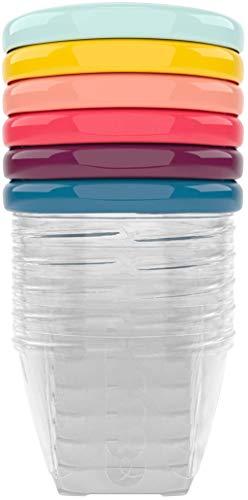 Babymoov Babybols Aufbewahrungsbehälter für Babynahrung, hermetischer Drehverschluss, 6-teilig, 180 ml