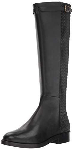 Cole Haan Women's Lexi Grand Stretch Strap Boot Mid Calf, Black Leather, 5...