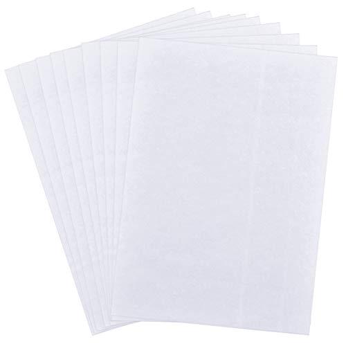 100 Hojas Papel Transparente, papel de trazar, Papel de Trazado de Dibujo, Translúcido Blanco Papel de Transferencia para Práctica de Escritura a Mano Pintura Trazado Bordado