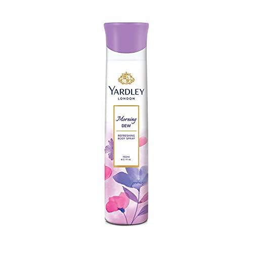 Yardley London Morning Dew Refreshing Deo Body Spray for Women, 150ml