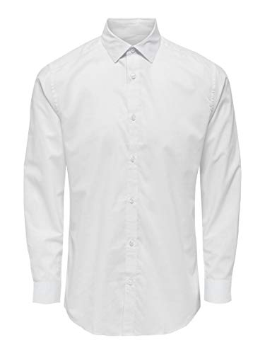 ONLY & SONS Male Hemd Klassisches SWhite