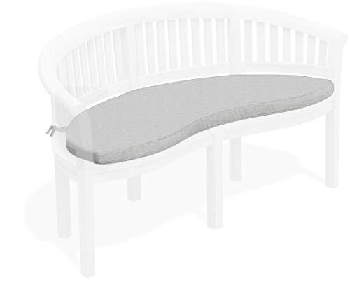 Jati Teak Banana Bench Cushion Only (6 colours) Brand, Quality & Value (Grey)