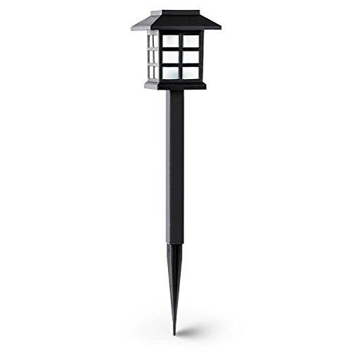 oneConcept Nagano lámpara de jardín diseño japones bateria carga solar duración 6...
