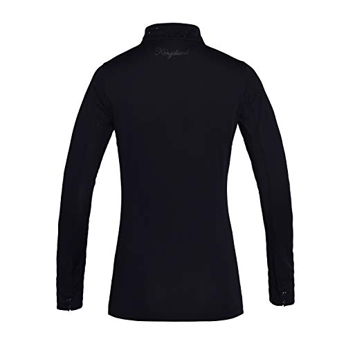 Kingsland Langarm Turniershirt Mimi, Show Shirt mit Glitzersteinchen Farbe weiß, Größe L