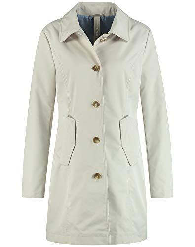 Taifun Damen Trenchcoat mit einreihiger Knopfleiste Casual fit, Klassische Passform, lässige Passform Sandshell 42