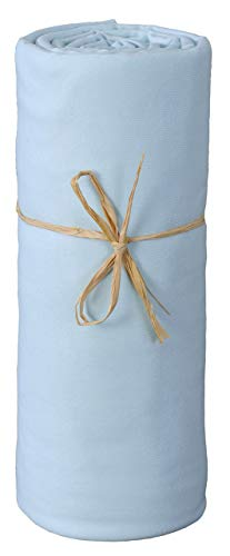 P'tit Basile - Drap Housse Jersey Coton Bio Extensible 40 x 80 cm turquoise