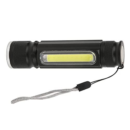 Linterna, linterna de mano de aleación de aluminio con cordón para acampar al aire libre