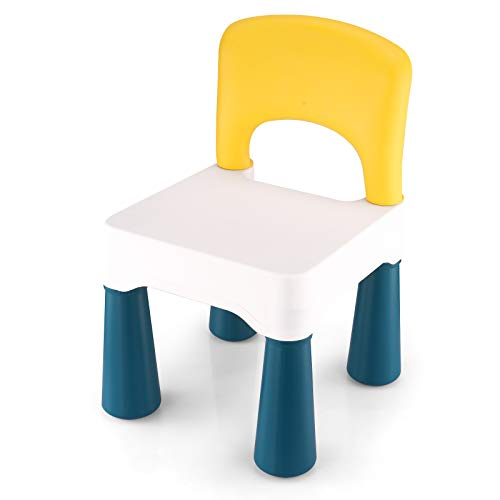 BITMEE Kids Chair, Toddler Chair, Toddler Chairs for Boys and Girls, Ergonomic Design, Eco-Friendly Durable Plastic, Indoor or Outdoor Use Kids Chairs for Boys and Girls- Macaron