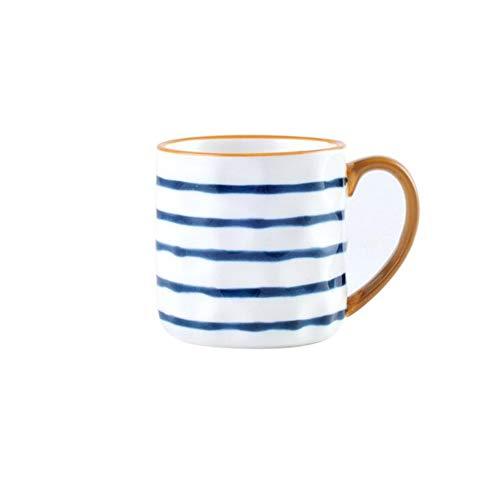 LIUTIAN Taza de cerámica, Desayuno Copa, Pintado a Mano, Azul y Blanco Porcelana Taza de la Serie, la combinación Libre (Color : A)