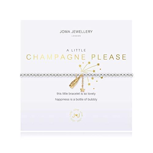 Joma Jewellery A Little Champagne Please Silver Bracelet | 17.5cm Stretch