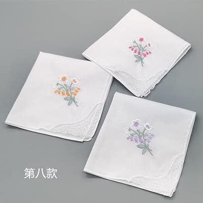 SushiSwap 3pcs Embroidery Flower White Handkerchiefs Ladies Lace Handkerchief Women Cotton Towels Chustki Zakdoek Fazzoletto Mouchoir H09 - See Chart - 541498