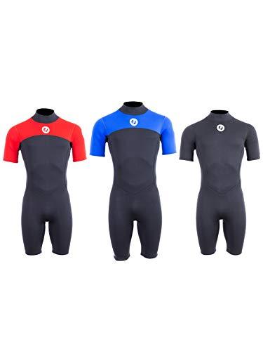 Two Bare Feet Mens Thunderclap 25mm Summer Shorty Neoprene Wetsuit for SurfSwimmingWatersports Medium Black
