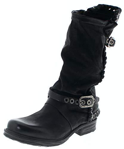 FB Fashion Boots A.S.98 Damen Stiefel 259345 Nero Airsteps Lederstiefel Schwarz 40 EU