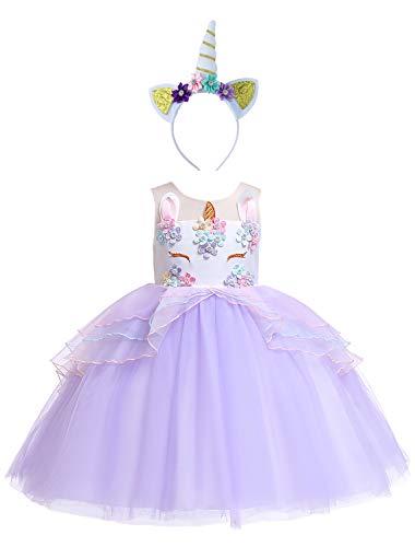 Eleasica Vestido de Unicornio para nias Disfraz Nio Adolescente Traje de Princesa Nia Graduacin Cosplay Pony Halloween Carnaval Navidad Ropa Infantil Boda Dama de Honor Baile Musical