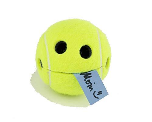 Pigallume - Notizhalter lustig einzigartiger Smile Happy Tennisball mit hochwertigem Saugnapf in transparenter Geschenkbox Tennis Originalprofitennisball WILSON Geschenkidee Aufbewahrung Memohalter