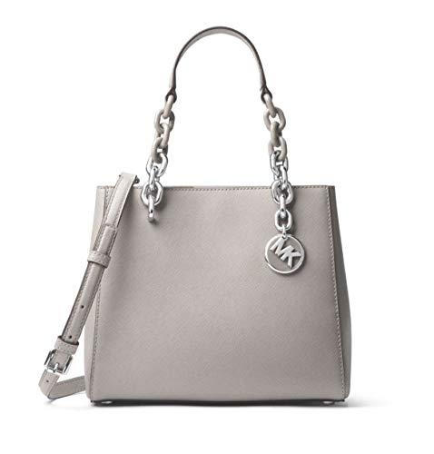 "100% Saffiano Leather, Acetate/Silver-Tone Hardware 9.5""W X 7.75""H X 4.5""D Handle Drop: 6.25"", Adjustable Strap: 22.5""-24"" Interior Details: Back Zip Pocket, Back Slit Pocket, 2 Front Slit Pockets, Center Zip Compartment Magnetic Snap Fastening"