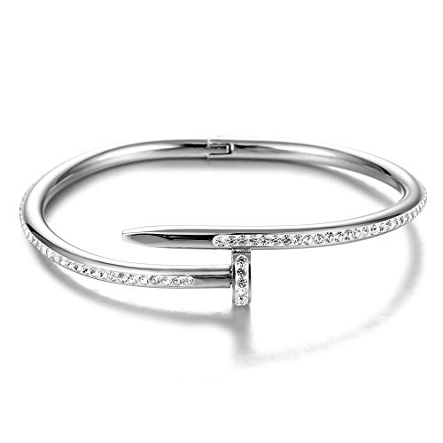 Stylish Titanium Steel Nail Bracelet, Couple's Simple Style with a Diamond Bracelet - a Creative Bracelet Full of Love