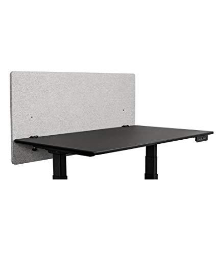 ReFocus™ Akustische Klemmtrennwand mit Stoffbezug - Reduzieren Sie Lärm und visuelle Ablenkungen mit diesem leichten, am Schreibtisch montierten Sichtschutz (Kühlesgrau, 48