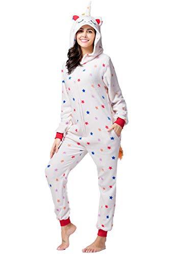 YAOMEI Adulto Unisexo Onesies Kigurumi Pijamas, Mujer Hombres Traje Disfraz Animal Pyjamas,...