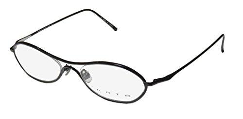 Kata Tempo For Ladies/Women Designer Full-Rim Shape Titanium Light Style Spectacular Eyeglasses/Glasses (52-19-140, Black)