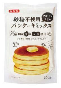 グルテンフリー砂糖不使用パンケーキミックス200g×12個セット