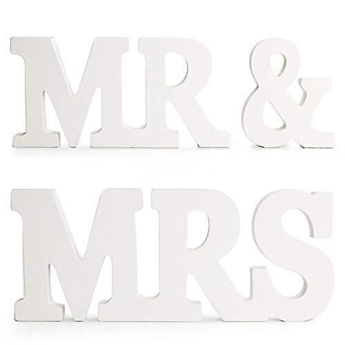 MR & MRS letras de Decoración, decoración de la boda, regalo de...