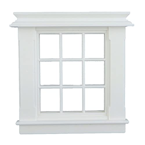 Melody Jane Puppenhaus Miniatur Weiß Kunststoff Georgischer Fensterrahmen 9 Ausschnitt 1:24 Maßstab