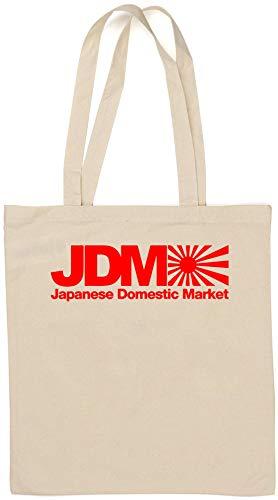 JDM Japanese Domestic Market Rising Sun Flag Graph Bolsa de algodón Natural