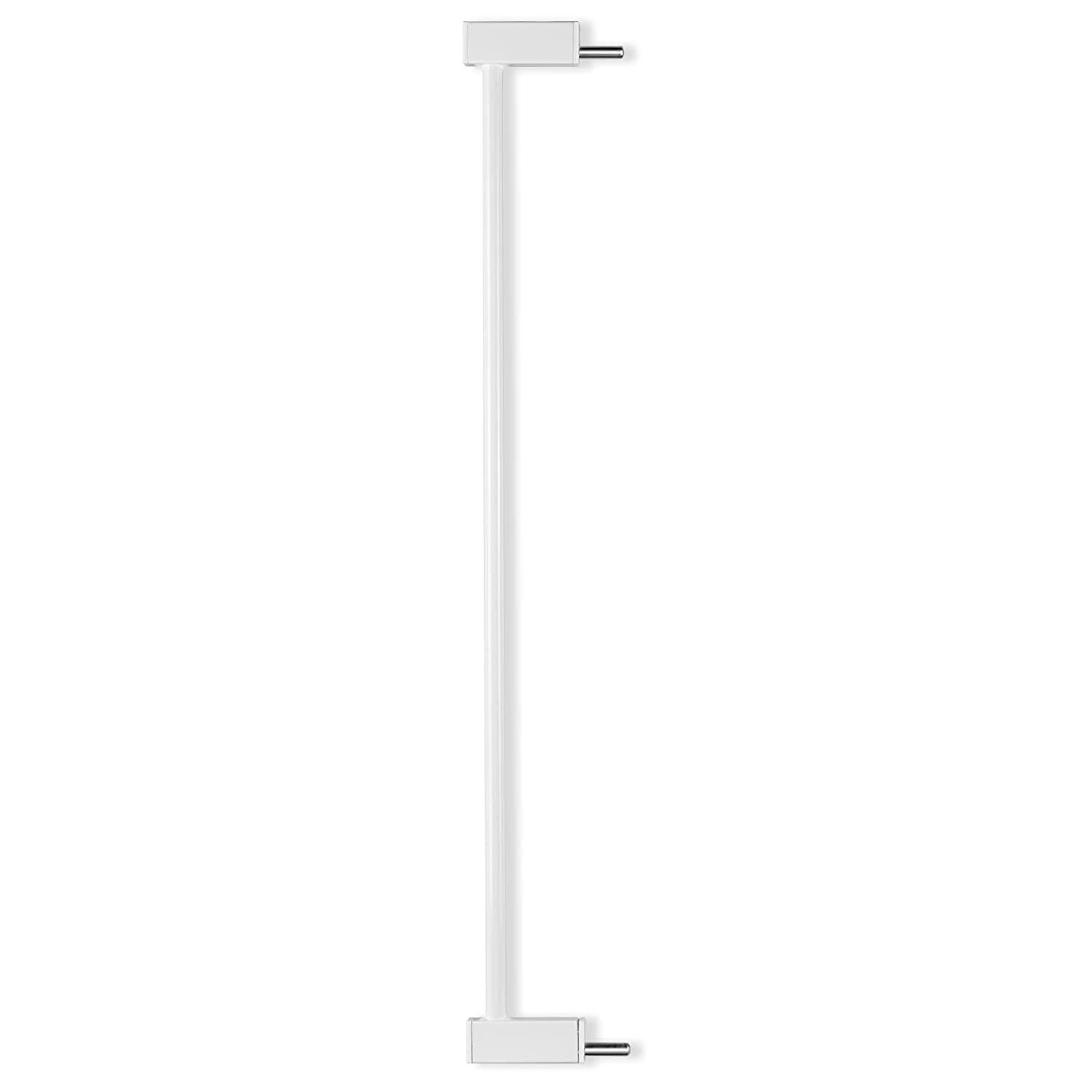 BABELIO Metal Baby Gate Dog Gate, 2.7inch (7cm) White Extension, Extra Wide Pet Gate for Stairs & Doorways, Pressure Mounted Walk Thru Child Gate with Door, NO Need Tools NO Drilling