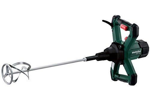 Metabo 614045000 Rührwerk RWEV 1200 | + Rührstab Typ RS-R3 | ergonomische Griffe / Gummiecken am Gehäuse / VTC Vollwellenelektronik (1200 W | Leerlaufdrehzahl: 0 - 590 /min | 3,4 kg)
