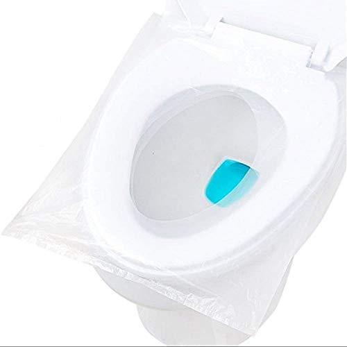 HUAESIN 60PCS Fundas WC Desechables Protector Vater Impermeable Papel Cubre Inodoro Funda Asiento Paquete Individual para Baños Públicos Water Viajes Camping Membrana Niños Adultos 47.5 X 40cm