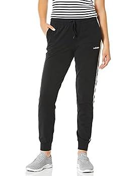 adidas Women s Essentials 3-Stripes Single Jersey Joggers Black/White X-Small