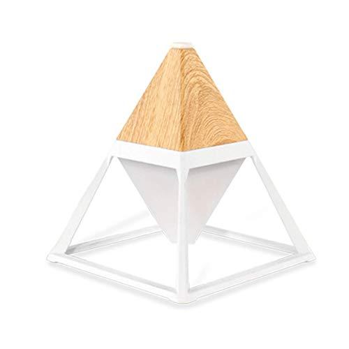 Mini creativo pirámide lámpara de mesa de protección de los ojos lámpara de noche humidificador dormitorio lámpara de noche romántica sueño toque sensor de ahorro de energía lámpara