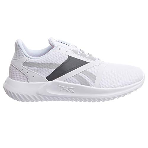 Reebok mens Energylux 3.0 Running Shoe, White/Pure Grey, 8 US