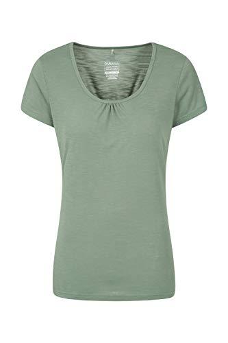 Mountain Warehouse T-Shirt Agra léger et Respirant pour Femme - Séchage Rapide, évacuation de la Transpiration - pour Sports d'extérieur et randonnée Kaki 44