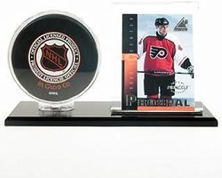 Black Acrylic Base Hockey Puck & Card Holder