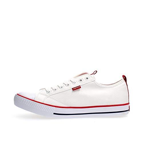 Levis Sneaker Herren Stan Buck Ribbon 230331-733-51 Weiß Regular White, Schuhgröße:43